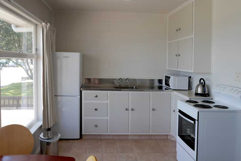 Kitchen in Unit 1 at Westhaven Motel