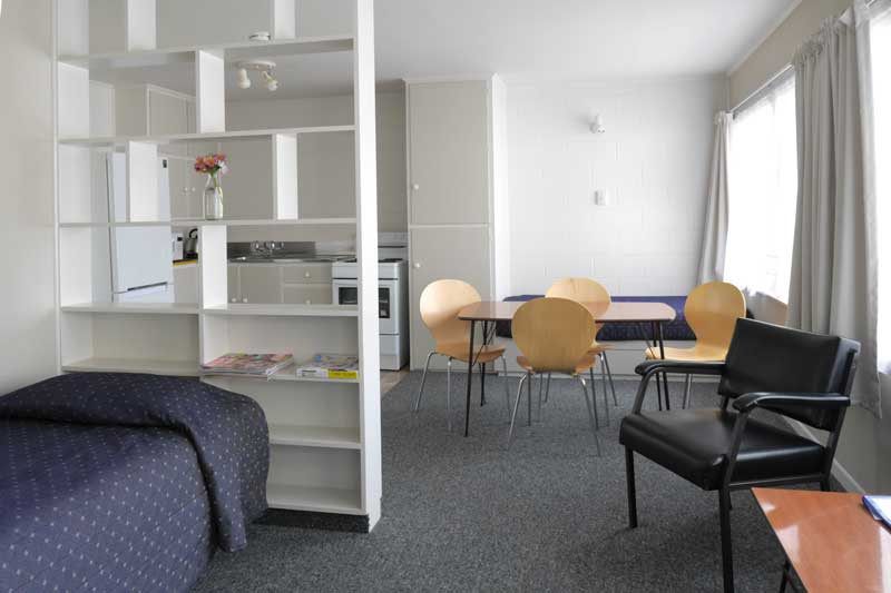 Lounge -Kitchen in Unit 7 at Westhaven Motel
